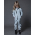 Nununu French Terry Biker Overall in Heather Grey
