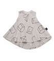 Nununu Geometric 360 Dress in White -  <B>Last One Size 10/11Y</b>
