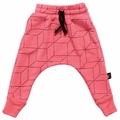 Nununu Grid Baggy Pants in Neon Pink - <B>Last one size 10Y/11Y</b>