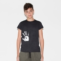 Nununu Hand Print Raw T-shirt In Black