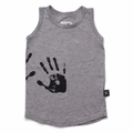 Nununu Hand Print Tank Top In Heather Grey - <B>Sold Out</b>