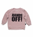 Nununu Hands Off! Pullover in Powder Pink