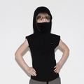 Nununu Hooded Ninja Shirt In Black