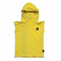 Nununu Hooded Ninja Shirt In Dusty Yellow