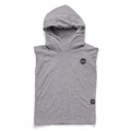 Nununu Hooded Ninja Shirt In Heather Grey