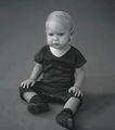 Nununu Knitted Kimono in Black - <B>Last One Size 0-6m</b>