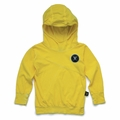 Nununu Light Hooded Shirt In Dusty Yellow