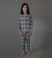 Nununu MD Skull Lounge Wear in Heather Grey
