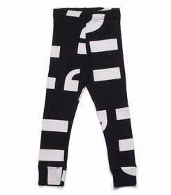 Nununu Punctuation Leggings in Black - <B>Last One Size 6/7</b>