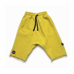 Nununu Raw Shorts In Dusty Yellow - <B>Last One Size 12/14Y</b>