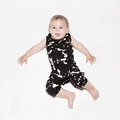 Nununu Splash Overall In Black - <B>Last one size 6-12M</b>