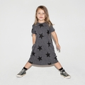 Nununu Star A Dress In Charcoal Grey