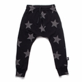 Nununu Star Baggy Pants In Black - <B>Last One Size 10/11Y</B>