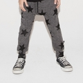 Nununu Star Baggy Pants In Charcoal