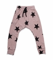 Nununu Star Baggy Pants In Powder Pink
