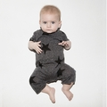 Nununu Star Playsuit In Charcoal