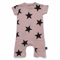 Nununu Star Playsuit In Powder Pink