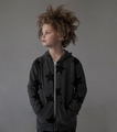 Nununu Star Zip Hoodie in Charcoal - <B>Last one size 10Y/11Y</B>