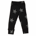 Nununu Stars Leggings in Black - <B>Last one size 10Y/11Y</B>