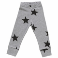 Nununu Stars Leggings in Grey - <B>Size 10Y/11Y left</b>