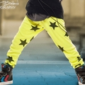 Nununu Stars Leggings in Neon Yellow - <B>Sold Out</B>