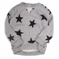 Nununu Stars Pullover in Grey - <B>Sold Out</B>