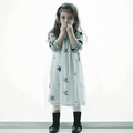 Nununu Tulle Dress in Gray - <B>Last one size 0-6M</B>