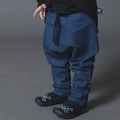 Nununu Woven Baggy Pants in Denim - <B>Last one sizes 8Y/9Y & 10Y/11Y</B>