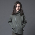 Nununu Woven Biker Jacket in Olive - <B>Last One Size 10/11Y</b>