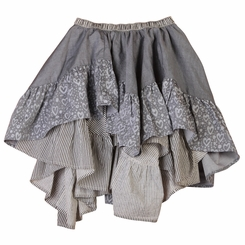 Paper Wings Frilled Chambray Skirt - <B>Last one size 2</B>