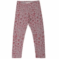 Paper Wings Painted Hearts Grey Legging - <B>Last one size 2T</B>