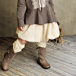 Persnickety Bubble Skirt in Cream - <B>Size 3 & 8 left</B>