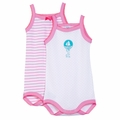 Petit Bateau 120 Anniversary 2-Pack Tanksuits in Pink - <B>Size 3M left</B>