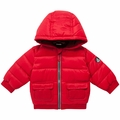 Petit Bateau Baby Padded Winter Jacket in Red <B>Last One Size 12M</B>