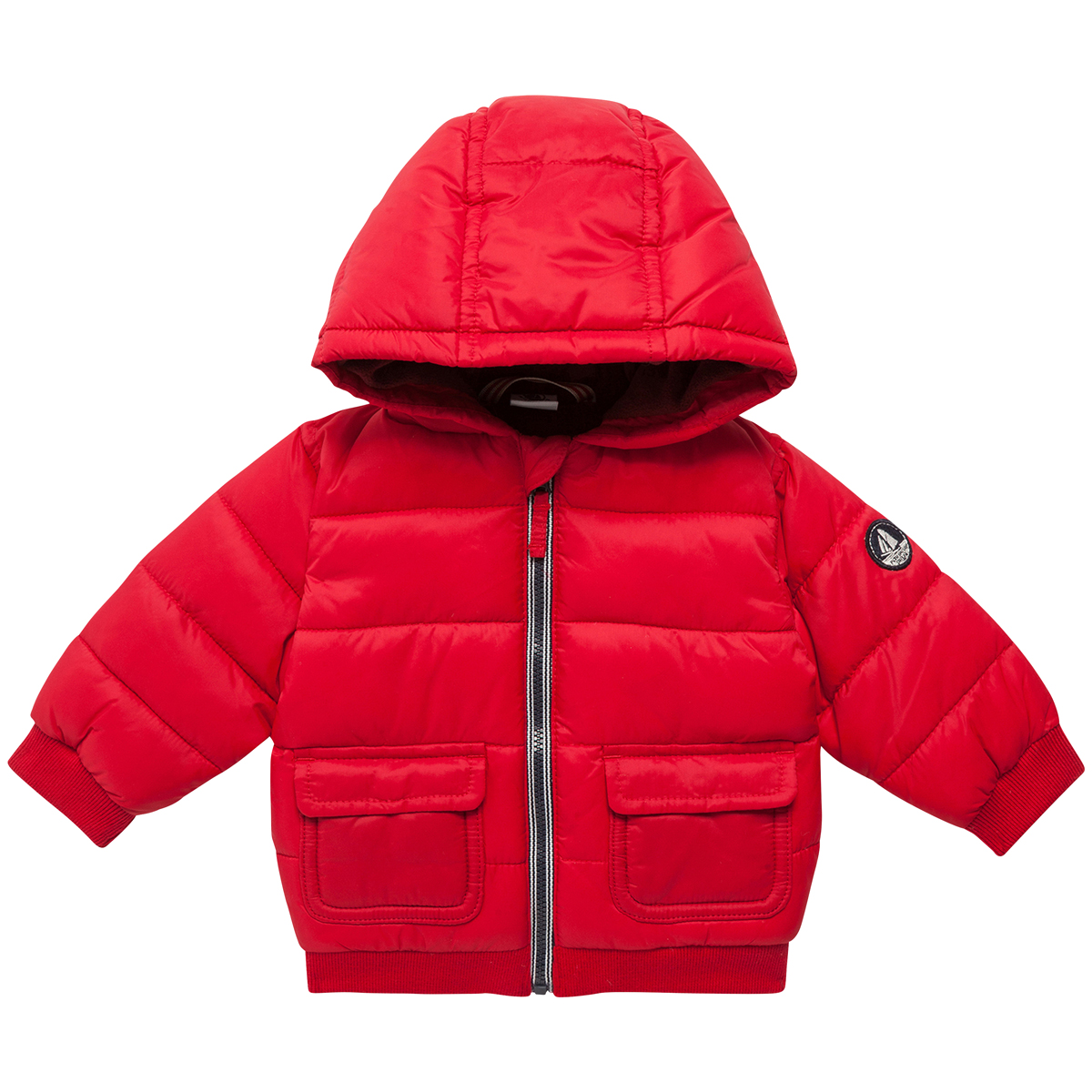7c70f67e5 Petit Bateau Baby Boy Padded Winter Jacket in Red