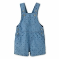 Petit Bateau Baby Boy Short Dungarees in Denim - <b>Last one size 18M</b>