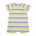 Petit Bateau Baby Boy Short Sleeve Multi Striped Romper  - <B>Size 3M left</B>