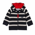 Petit Bateau Baby Boy Striped Hooded Sweatshirt in Navy White - Coming soon!