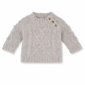 Petit Bateau Baby Boy Warmer Cable Knit Sweater - last size 3M!