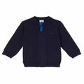 Petit Bateau Baby Boy Zip Up Cardigan in Navy - <B>Last One Size 18m</B>