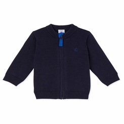 Petit Bateau Baby Boy Zip Up Cardigan in Navy - <B>Sold Out</B>
