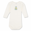 Petit Bateau Baby Boys Warmer Bodysuit with Bear