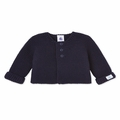 Petit Bateau Baby Cardigan in Navy -  <B>Last One Size 3m left</B>