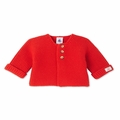 Petit Bateau Baby Cardigan in Red
