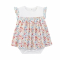 Petit Bateau Baby Girl Cherry Printed Bodysuit Dress - Coming soon!