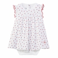 Petit Bateau Baby Girl Floral Printed Bodysuit Dress  - <b>Size 18m left!</B>