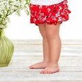 Petit Bateau Baby Girl Japanese Floral Bloomers in Red