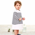 Petit Bateau Baby Girl Long Sleeve Iconic Striped Dress - <B>Sold Out</B>