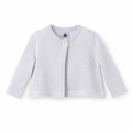 Petit Bateau Baby Girl Lurex Knit Cardigan - <B>Sold Out</B>