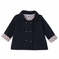 Petit Bateau Baby Girl Padded Jacket in Navy